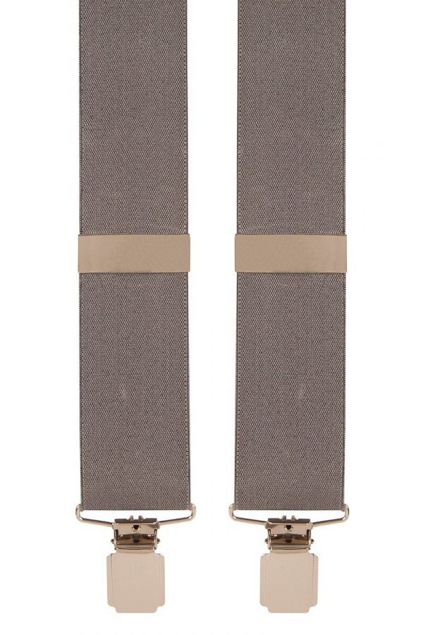 Traditional Classic Grey X-Style Trouser Braces