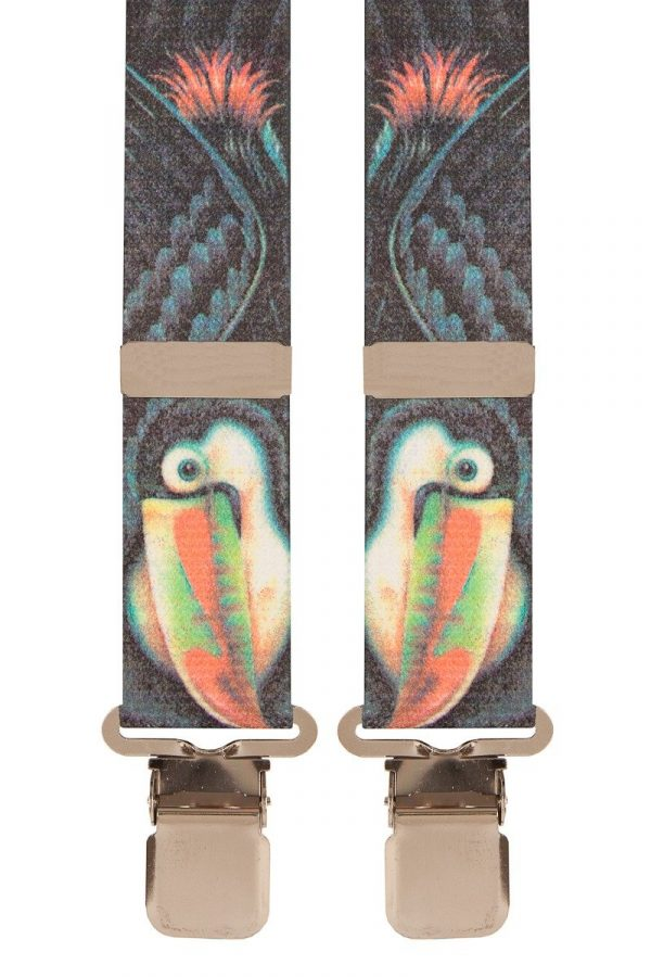 Toucan Bird Novelty Trouser Braces with Metal Clips