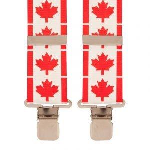 BriMarc Canadian Flag Braces 50mm X-Style