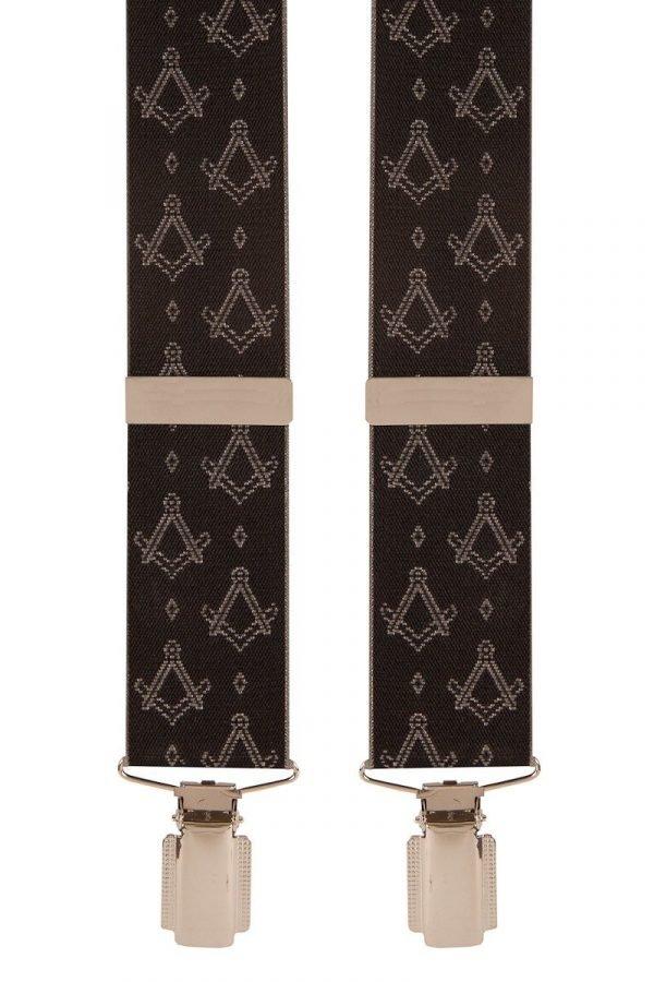 Masonic Masons Emblem Trouser Braces in Black