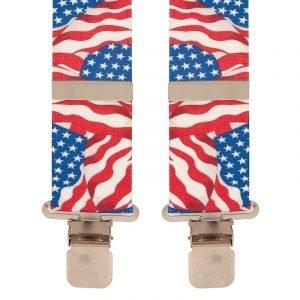 BriMarc USA Waving Flag Braces. 50mm X-Style