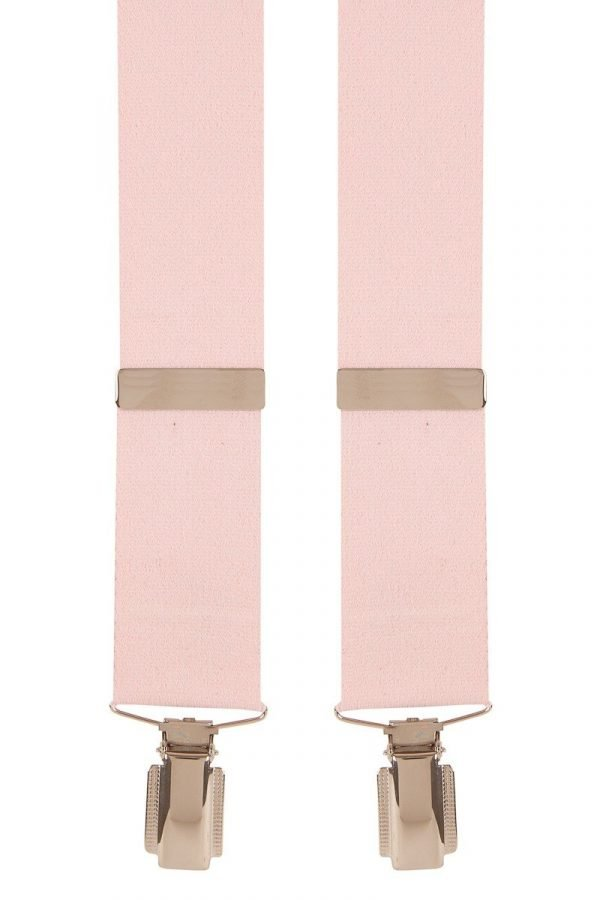 Plain Traditional Trouser Braces in Pink