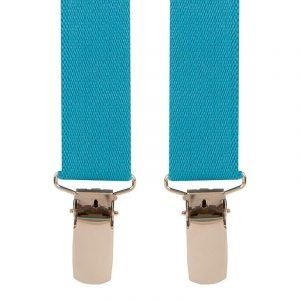 Plain Skinny Trouser Braces in Teal