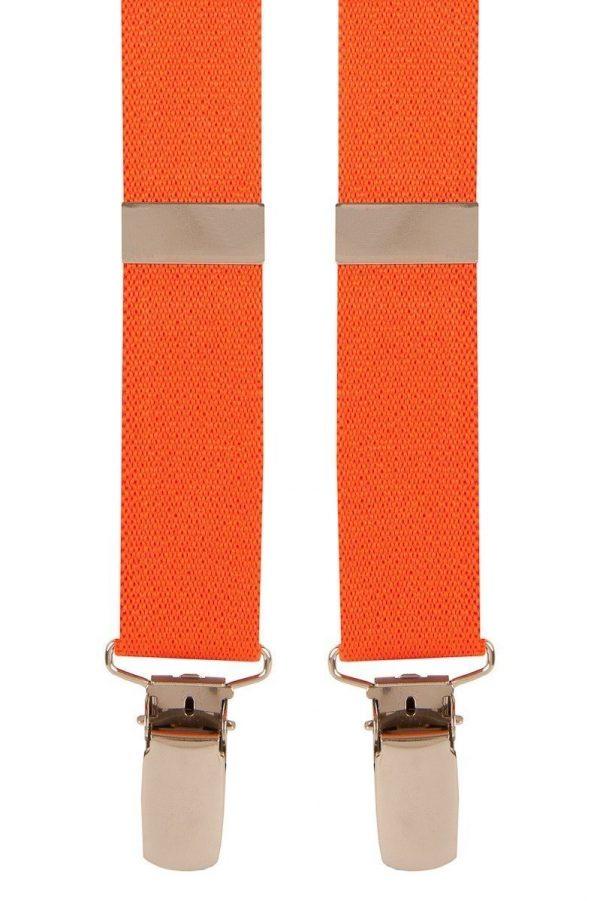 Plain Skinny Trouser Braces in Orange
