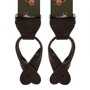 Horse Riding Trouser Braces in Green