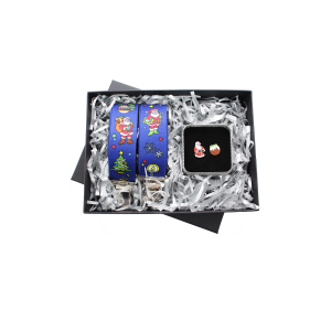 Christmas Braces and Christmas Pudding Cufflink 2 Piece Gift Set