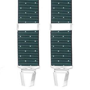 Polka Dot Stripe Trouser Braces in Grey/White