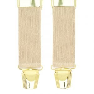 Plain Trouser Braces in Beige
