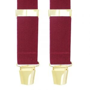 Plain Trouser Braces in Wine
