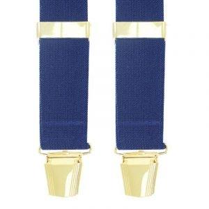 Plain Trouser Braces in Navy