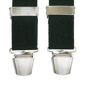 Plain Trouser Braces in Green