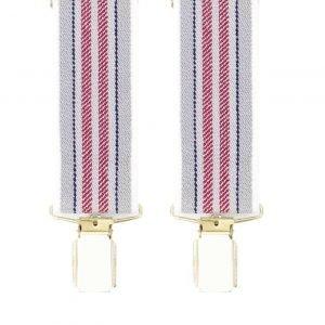 Striped Trouser Braces in Wine