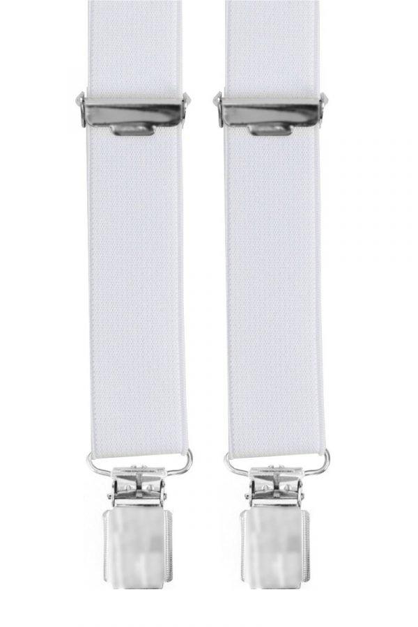 Slim Trouser Braces in White