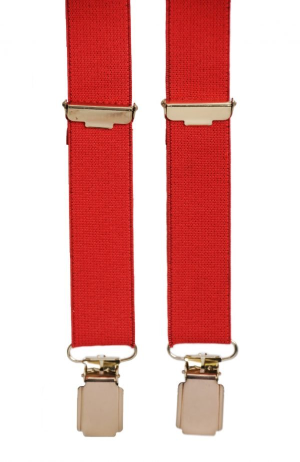 Slim Trouser Braces in Red