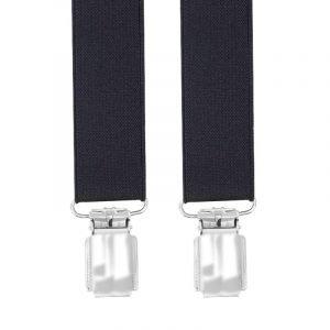 Slim Trouser Braces in Black 25 MM X-STYLE