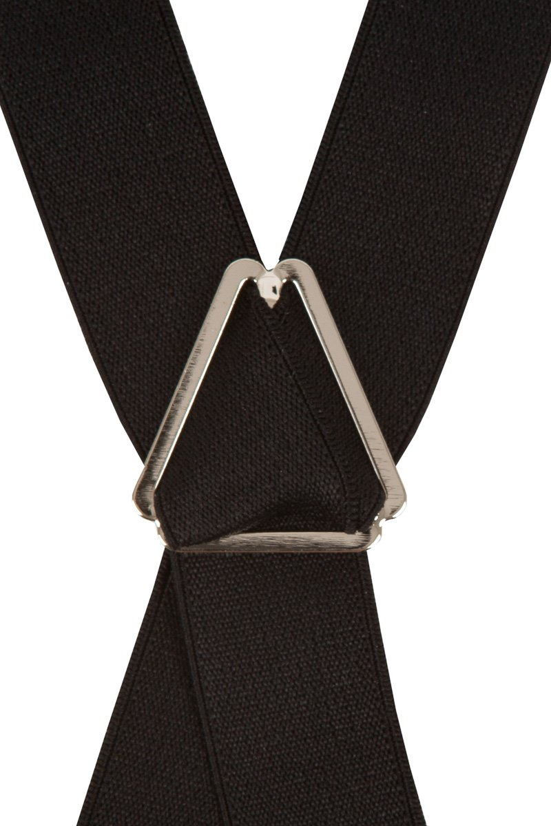 Black Slim 25mm Trouser Braces