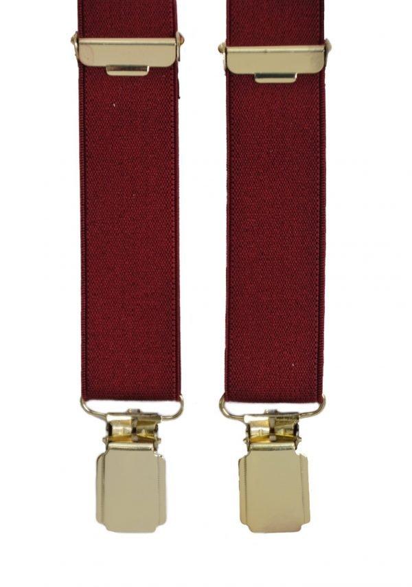 Slim Trouser Braces in Wine 25mm X-STYLE