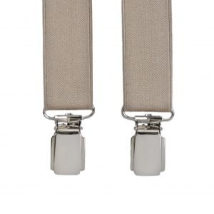 Slim Trouser Braces in Beige