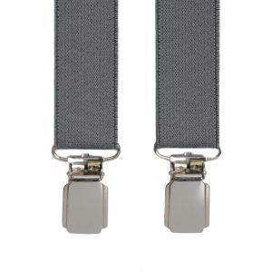 Slim Trouser Braces in Grey