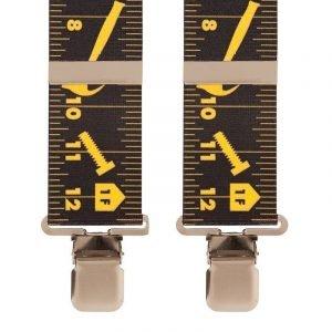 Tape Measure Work Trouser Braces in Black
