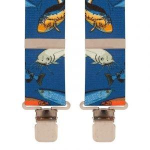 Blue Fishermans River Fish Trouser Braces
