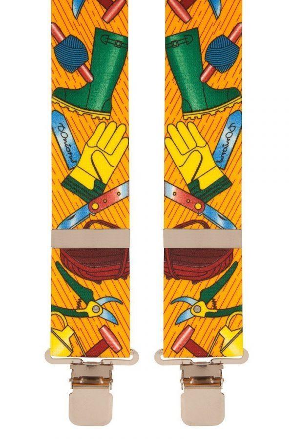 Gardeners Novelty Trouser Braces 50mm X-Style BriMarc Gardeners Orange Braces