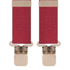 Plain Heavy Duty Trouser Braces in Wine 50mm X-Style