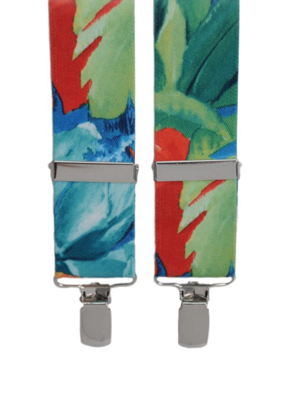 Tropical Psychedelic Trouser Braces