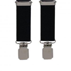 Ribbed Trouser Braces in Black