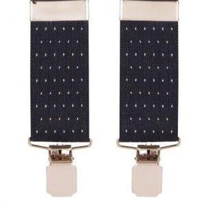 Spot Pattern Trouser Braces in Navy
