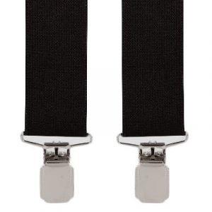 Plain Design Trouser Braces in Black