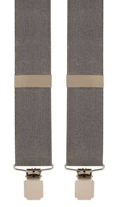 Plain Design Trouser Braces in Grey