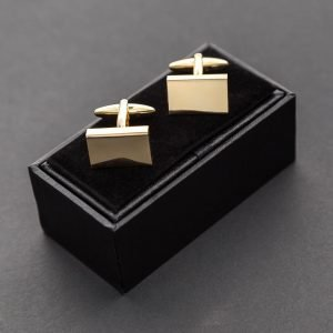 Classic Plain Gold Cufflinks
