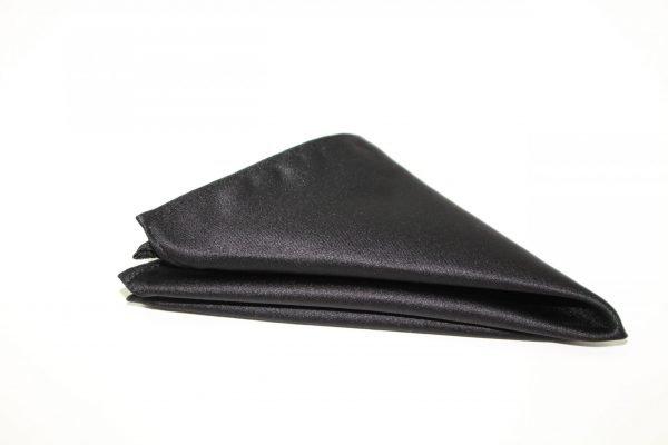 Satin Co-ordinating Handkerchief in Black