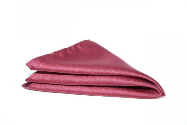 Satin Co-ordinating Handkerchief in Wine