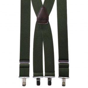 Plain Trouser Braces in Hunter Green
