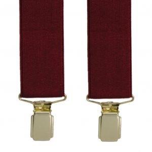 Plain Trouser Braces in Burgundy/Wine