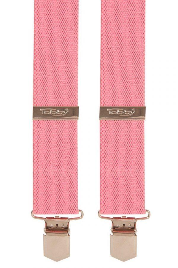Bright Cerise Plain Trouser Braces in Hot Pink