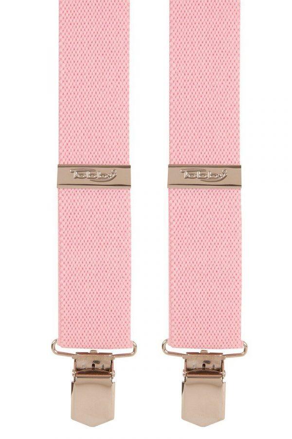 Light Pink Trouser Braces Tobby 35mm Ladies Braces Bonbon / Light Pink