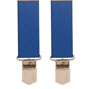 Children's Royal Blue Trouser Braces 30mm Wide Straps (5 - 8 Years) Top quality classic X-Style Children's braces in a pleasant Royal Blue design