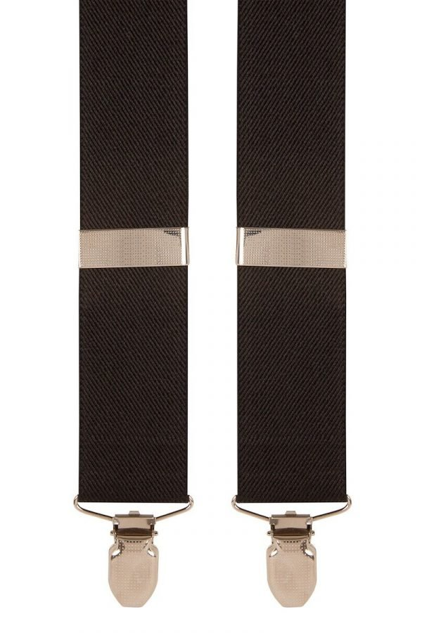 Plain Trouser Braces in Black
