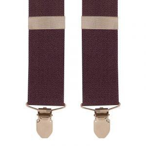 Plain Purple / Plum Y Style Trouser Braces