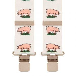 Pig & Farm Design Trouser Braces Heavy Duty 50mm Wide Straps