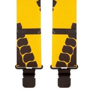 Tyre Tread Yellow & Black Trouser Braces