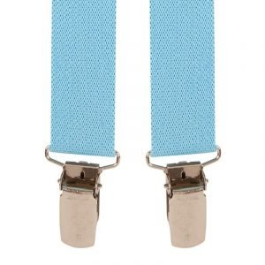 Children's Trouser Braces 1-2 Yrs 25mm Sky Blue Top quality classic X-Style Children's braces, in a Sky Blue design, with strong metal clips.