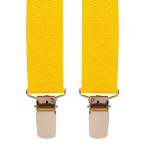 Children's Trouser Braces 1-2 Yrs 25mm Yellow Top quality classic X-Style Children's Toddler braces, in a Yellow design, with strong metal clips.