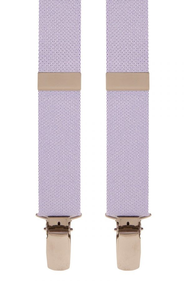 Children's Trouser Braces 1-2 Yrs 25mm Light Purple Top quality classic X-Style Children's braces, in a Light Purple design, with strong metal clips.