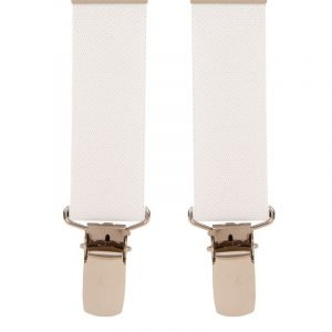 Children's Trouser Braces 1-2 Yrs 25mm White Top quality classic X-Style Children's braces in a White design, with strong metal clips.