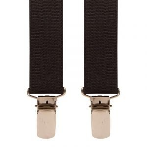 Children's Trouser Braces 1-2 Yrs 25mm Black Top quality classic X-Style Children's braces in a Black design, with strong metal clips.