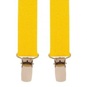 Children's Trouser Braces 3-5 Yrs 25mm Yellow Top quality classic X-Style Children's braces in a Yellow design, with strong metal clips.